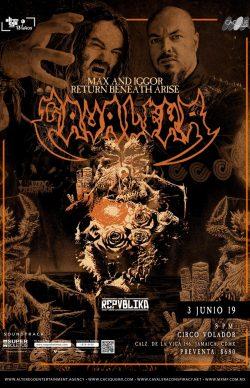 Cavalera Max e Iggor Returns Beneeath Arise en Monterrey 2019