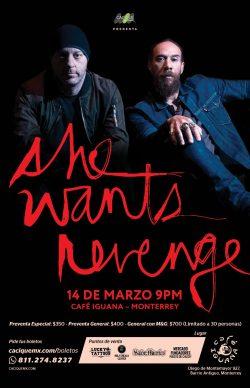 She Wants Revenge Monterrey, 14 Marzo 2020