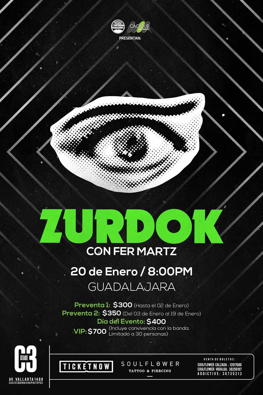 Zurdok en Guadalajara enero 2018